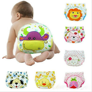 1*Toilet Pee Potty Training Pants Baby Boys Girls Diaper Underwear Baby suits