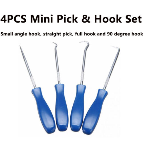 4X Mini Precision Pick Hook Trim Set O Ring Oil Seal Gasket Puller Remover Tool