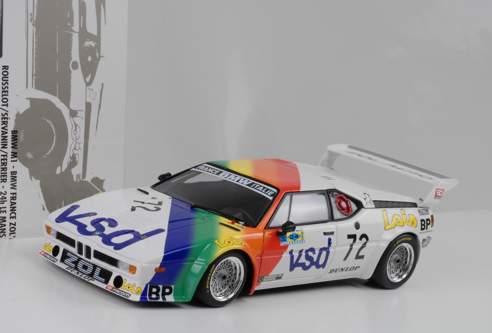 1981 BMW BMW BMW M1 France Zol`Auto 24H Le Mans Rousselot Servanin 1 18 Minichamps 963d2a
