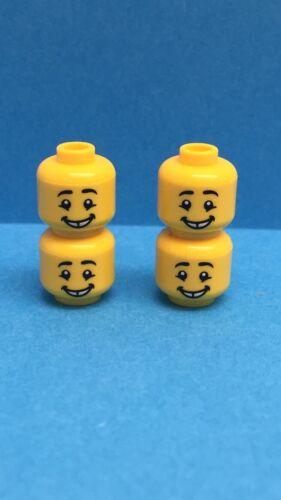 4 NUOVO COSTRUZIONI LEGO da uomo minifigura TESTE