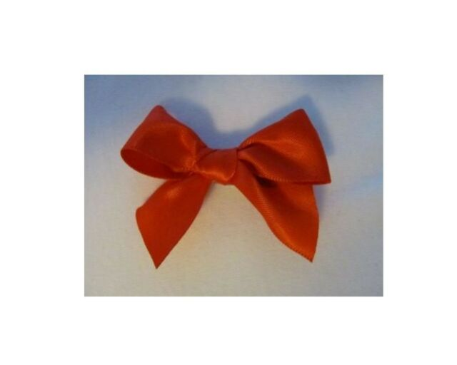 Red Satin Dog Puppy Pet Hair Bow Ribbon on Alligator Clip