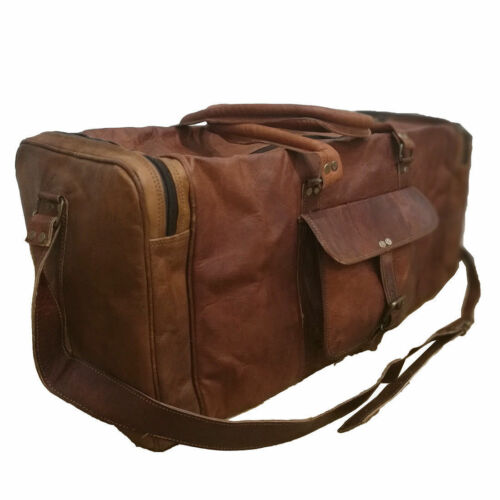 Small to X Large Men Leather Travel Bag Handmade Vintage Duffle Luggage Weekend
