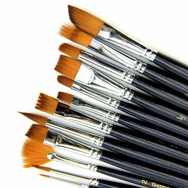 6Pcs Watercolor Paint Brush Weasel Hair Artist Paintbrush Acrylic Art Supplies