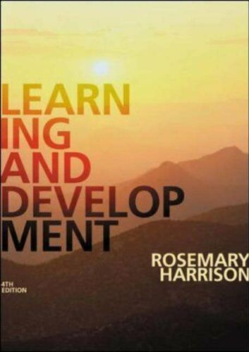 1 of 1 - Learning and Development By Rosemary Harrison. 9781843980506