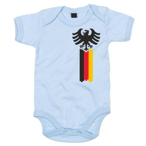 EM 2016 Deutschland Fahne Babytrikot Deutschland Adler Baby Body