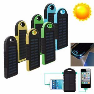 Etanche-20000Mah-Solaire-USB-Chargeur-Batterie-Externe-Power-Bank-Secours-Phone