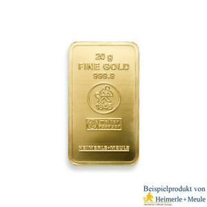 Pure-Gold-Bar-20G-HEIMERLE-MEULE-999-9-Fine-24k-Gold-Embossed-Bullion-Investment