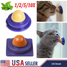 Rusisi 3pcs Healthy Cat Solid Nutrition Snacks Catnip Sugar Candy Licking Toys Energy Ball Pet Cat Products