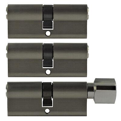 MüHsam 3x Tür Zylinder Schloss 60 Mm Gleichschliessend +10 Schlüssel Schliessanlage Rheuma Und ErkäLtung Lindern