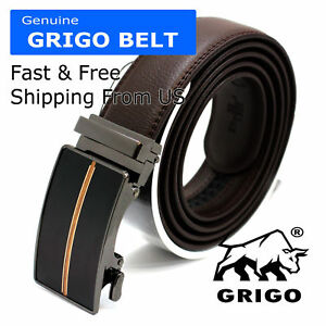 New Man/'s Dress Casual Automatic Click Leather Belt Waist Comfortable Waistband