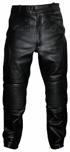Limo-Padded-Biker-Motorcycle-Armoured-Leather-Trousers-Pants-Police-Style