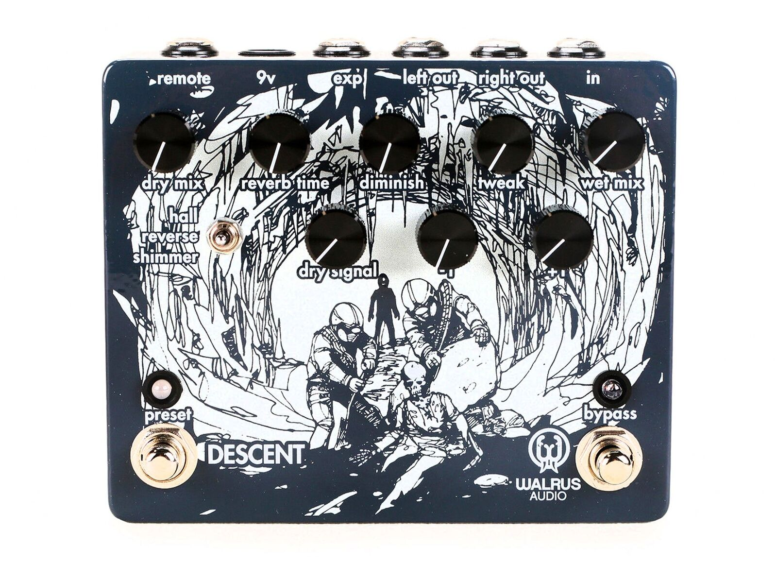 Walrus Walrus Walrus Audio Descent Reverb Pedal EFFECTS - NEW - PERFECT CIRCUIT b59918