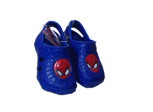 Kids Boys Spiderman Spiderman Blue Clogs Slip on Water Shoes Toddler 2 3 NEW