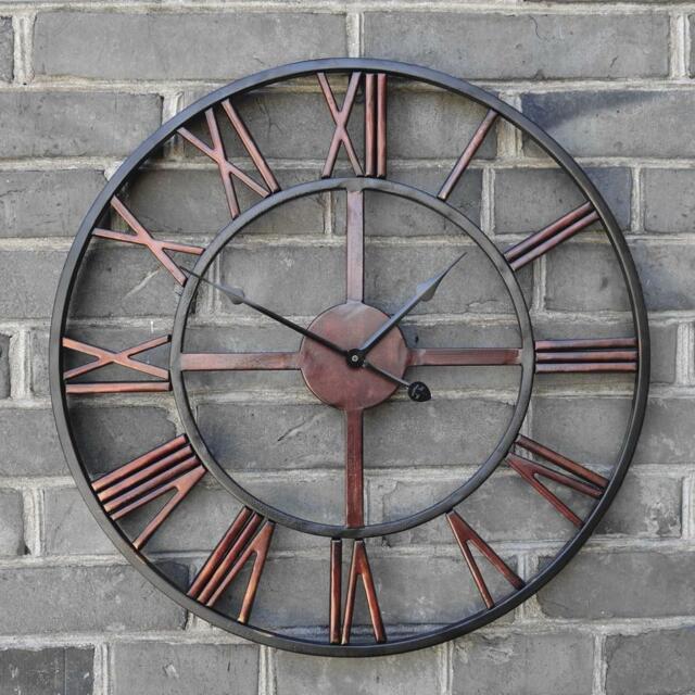 Retro Roman Iron Vintage Decorative Wall Clock