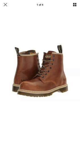 Dr Martens Icon 7B10 7 Eye Steel toe-Cap Tan Safety Boots.