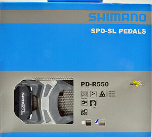 NEW-2018-Shimano-PD-R550-SPD-SL-Road-Pedals-amp-Floating-SM-SH11-Cleats-GRAY