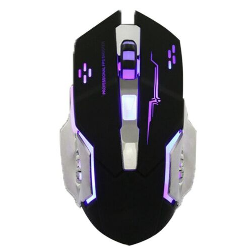 Computer Gaming Gamer Mouse 3200DPI 4Button USB LED Light Optical Wired//Wi ZDM