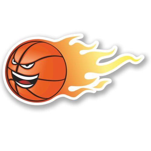 2 X Pegatina de vinilo Laptop viaje equipaje baloncesto #4621