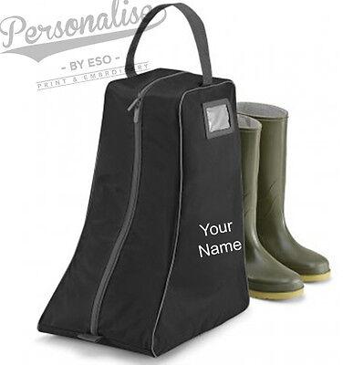 Personalizzata Quadra Wellington Boot Bag-welly Storage Custodia Di Trasporto-nome Cavallo- Forma Elegante
