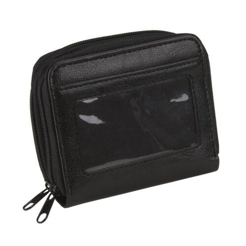 RFID Blocking Accordion Credit Card ID Women/'s Leather Wallet Holder 2 Zip
