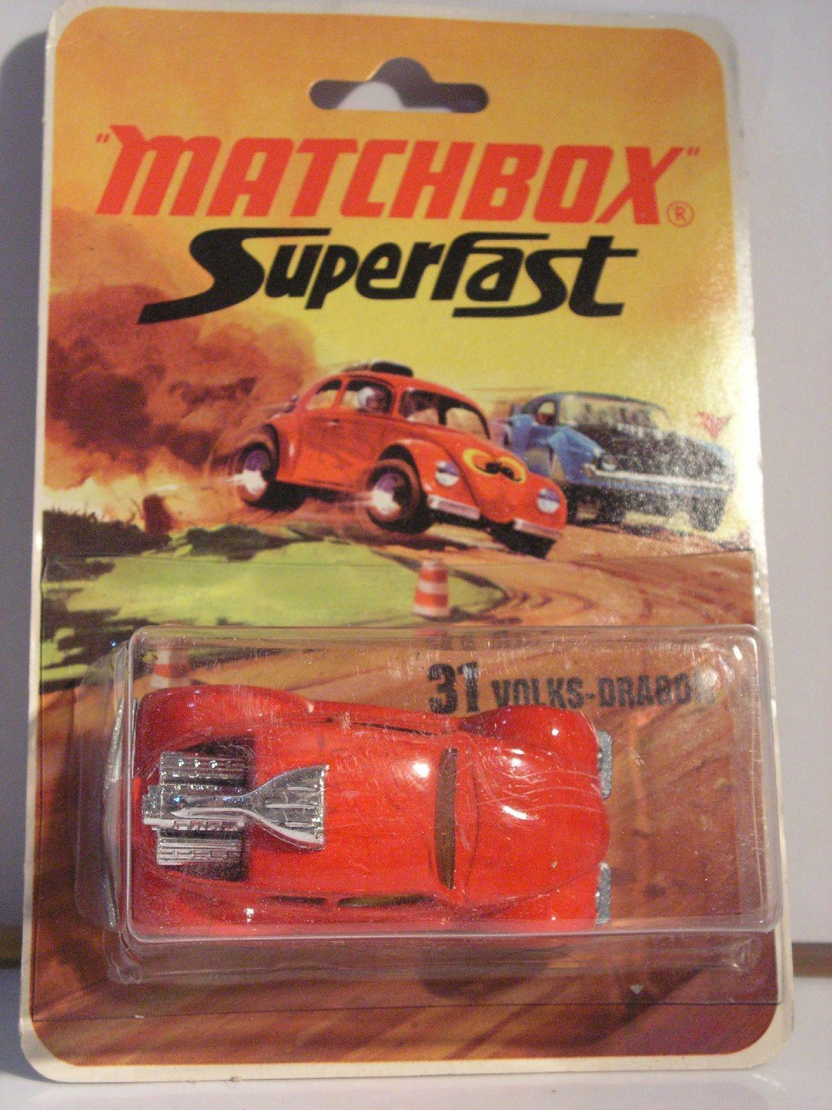 MATCHBOX  VOLKS-DRAGON - 31 MIB NEUF BOITE súperFAST vw beetle cox