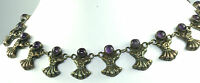 VTG RAF TAXCO MEXICO MEXICAN STERLING SILVER AMETHYST NECKLACE