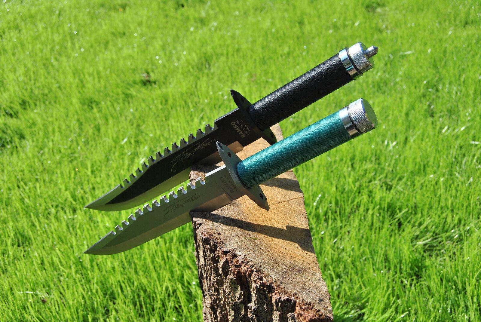 Offer Rambo Knife John Rambo 1 and 2 Set Signature Edition,