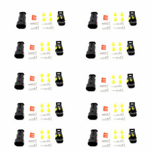 Waterproof-10-Set-2-Pin-Way-Sealed-Electrical-Wire-Cable-Connector-Plug-Terminal
