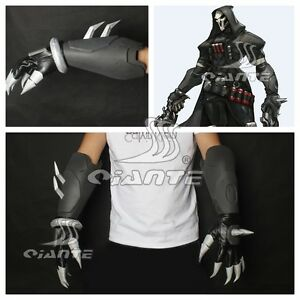 OW Overwatch Reaper Cosplay Costume  Reaper Gloves Artificial Leather Hand Armor