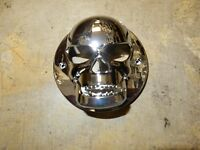 Chrome Skull Tail Light Covers Any Custom Car Truck Trailer 2 1/ 2 Inch