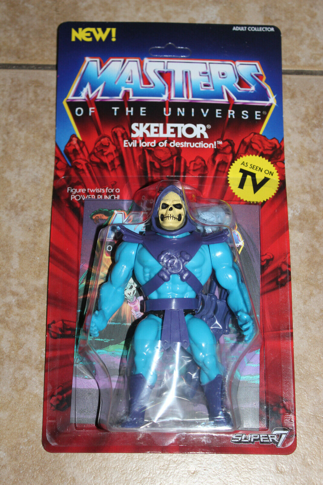 MOTU MASTERS OF THE UNIVERSE VINTAGE SERIES SUPER 7 EXCLUSIVE SKELETOR FIGURE