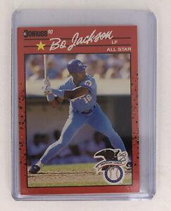1990 Donruss Bo Jackson All Star #650 Error Card No Period After Inc Very Rare