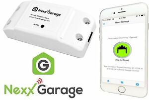 Nexx Garage Alexa Google Smart Phone Wifi Remote Garage