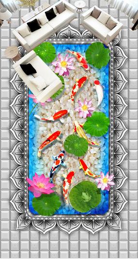 3D Karpfen 50 Fototapeten Wandbild Fototapete Tapete Familie DE Lemon