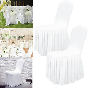 Pleasant Details About 1 100 Ruffled Wedding Chair Cover Stretch Spandex Banquet Party Venue Seat Cover Inzonedesignstudio Interior Chair Design Inzonedesignstudiocom