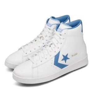 Details about Converse Pro Leather White Blue Retro Basketball Men Lifestyle Shoes 166813C