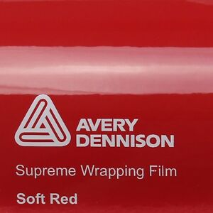 21-70-m-AVERY-Bleu-Supreme-EMBALLAGE-FILM-Brillant-SOFT-ROUGE-SWF