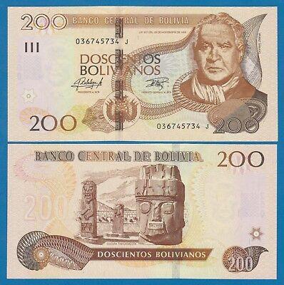 2014 SERIES I P 246 UNC BOLIVIA 100 BOLIVIANOS 1986