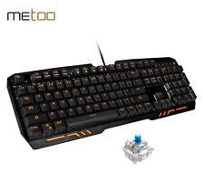 Metoo Z10 Mechanical Gamer Gaming PC Keyboard 104 Keys Blue Switch fit corsair
