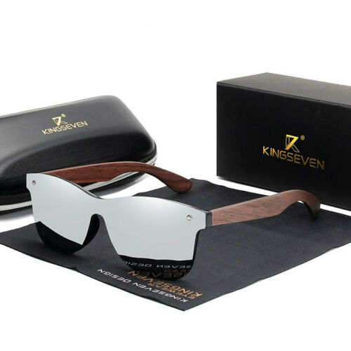 Homme Lunettes De Soleil Polarisées Cadre en Bois Classique Eyewear miroir lunettes mode
