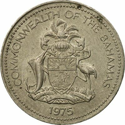 Elizabeth Ii 40-45 #439590 Coin 1975 Ef Buy One Give One 5 Cents Bahamas Franklin Mint
