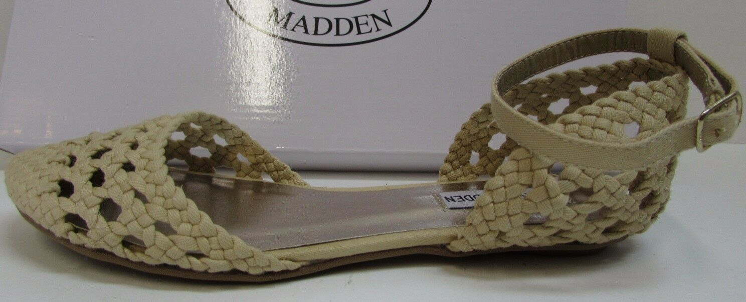 Steve Madden Taille 6.5 Beige Flats New femmes chaussures