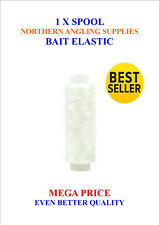 2 SPOOLS OF BAIT ELASTIC 250m GAME COARSE SEA FISHING TACKLE PIKE DEADBAIT RIGS