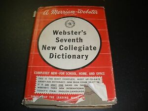 Webster's Seventh New Collegiate Dictionary 1965 hard cover