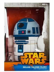 star wars r2 d2 r2d2 large deluxe 15 talkin plush toy authentic