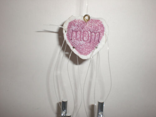 Dreamsicles MOM I Love You Mother Windchime Wine Chime Heart Charm Great Gift