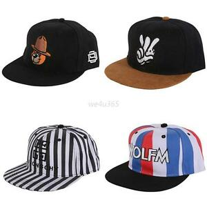 New Men's Fashion Bboy Brim Adjustable Baseball Cap Snapback Hip-hop Hat Caps