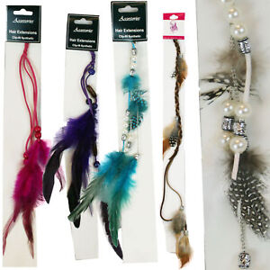 Wholesale-Lot-of-100-Assorted-Feather-Hair-Extension-Colorful-Instant-Highlights