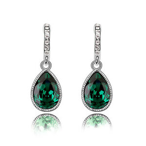 Sparkle-Crystal-Emerald-Green-Teardrop-Dangle-Rhinestone-Drop-Earrings-E1135
