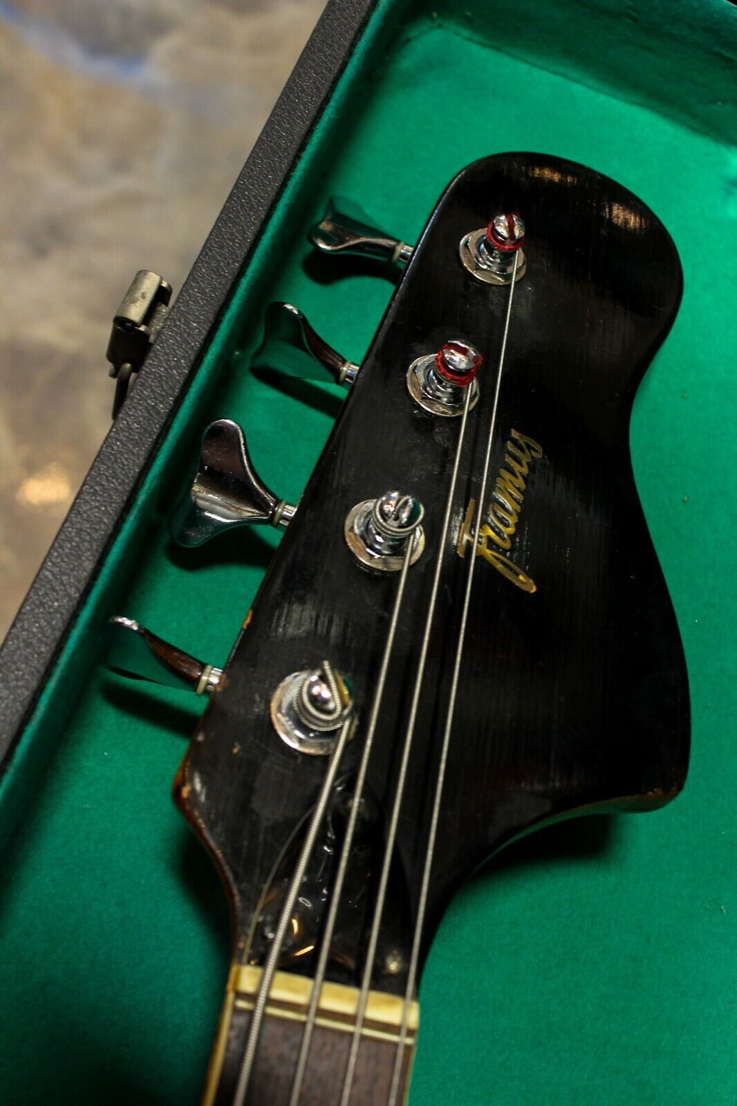 Vintage 1965 1965 1965 Framus 5 165-52GL Strato De Luxe Star Bass Flamed Top Back 2cabf2